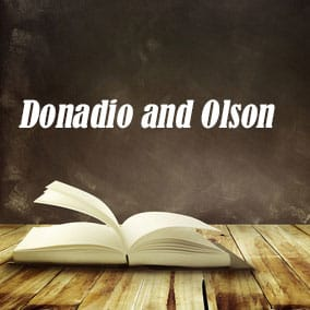Donadio and Olson - USA Literary Agencies