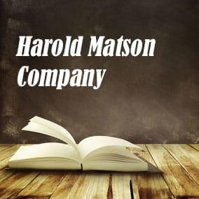 Harold Matson Company - USA Literary Agencies