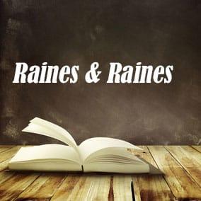 Raines and Raines - USA Literary Agencies